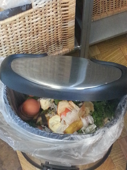 Kitchen compost container - no mess